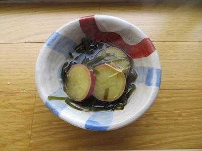 すき昆布とサツマイモの煮物
