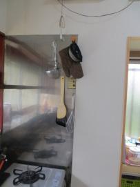 ガス台壁1