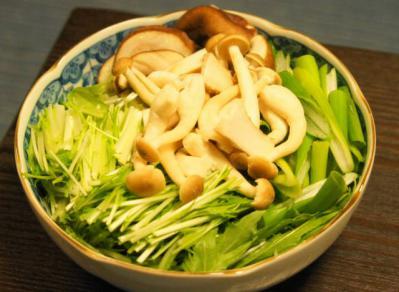 水菜・ネギ・きのこ一式