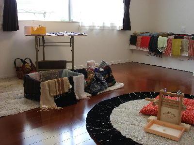 五人展(手織り布)