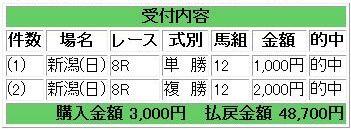 2010/07/25 新潟8R