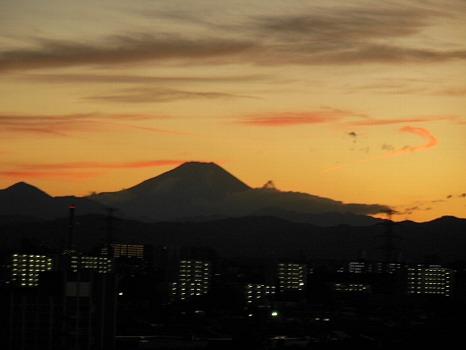 台風一過富士