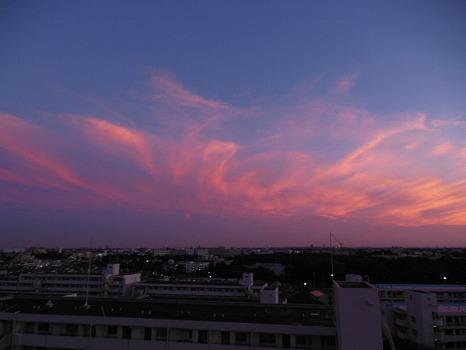 キャベツのような夕焼雲