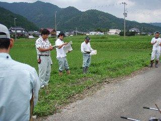 コウノトリ農法研修
