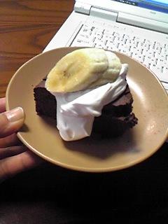 ガトーショコラとバナナ