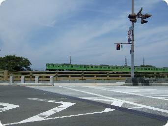 宇治を走る電車