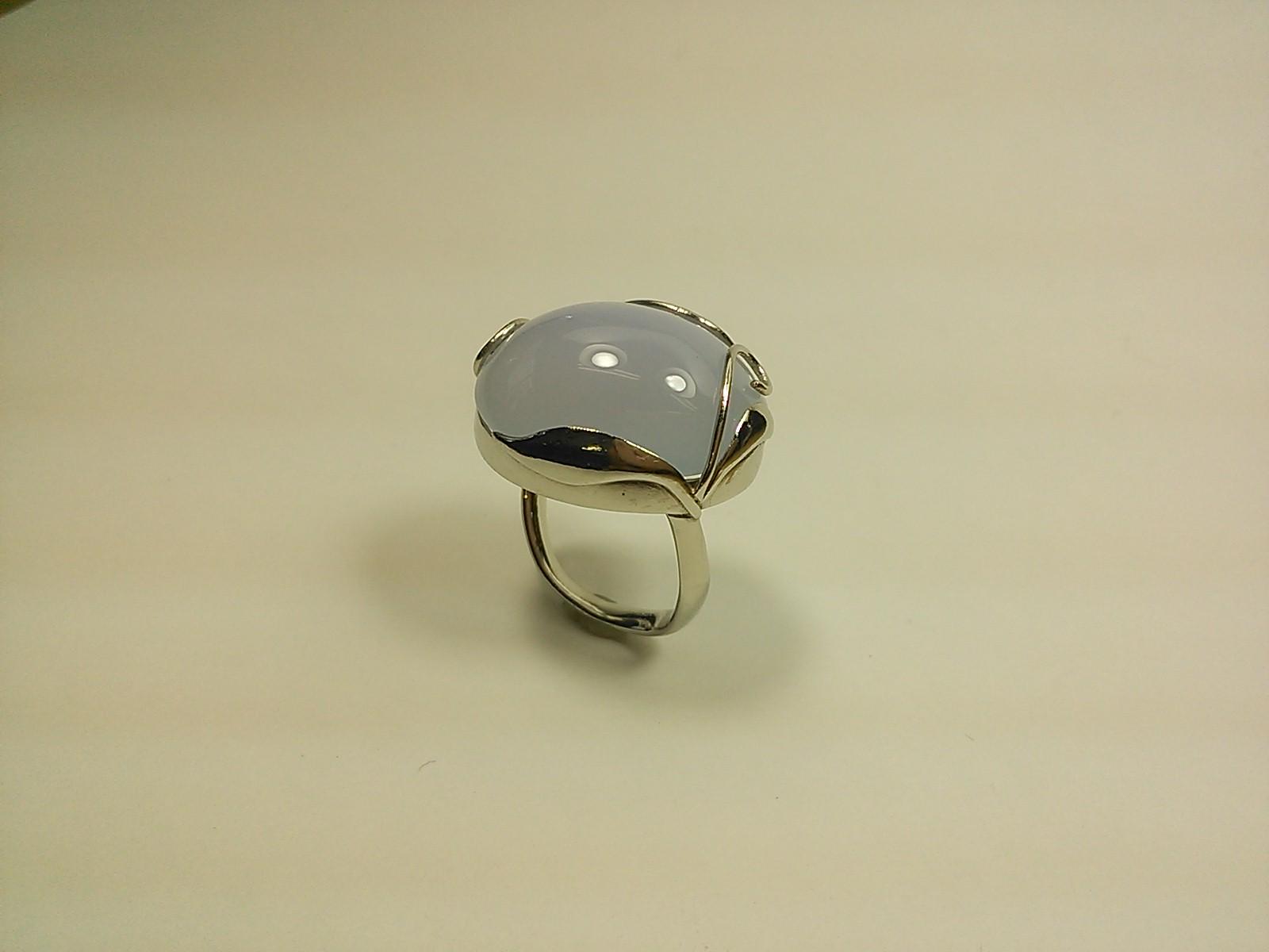 ブルーカルセドニーのリング指輪