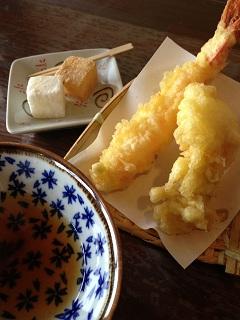 麺処 鵬匠 女性向けセットメニュー 天ぷら わらびもち