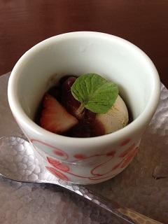 日本料理 ほたる ほうじ茶アイス