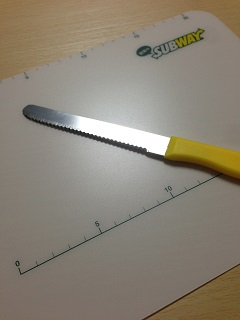 サブウェイ オリジナルまな板&サブウェイナイフ