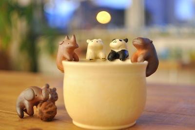 クリスマス2014陶器動物たち