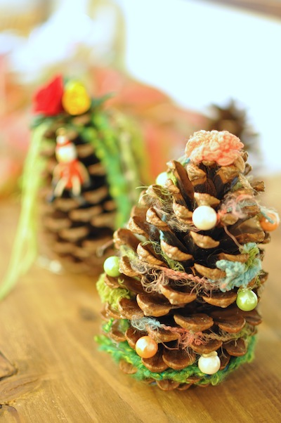 クリスマスWSまつぼっくりツリー