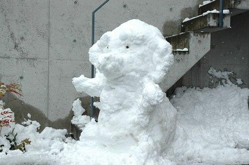 雪だるま作ったw