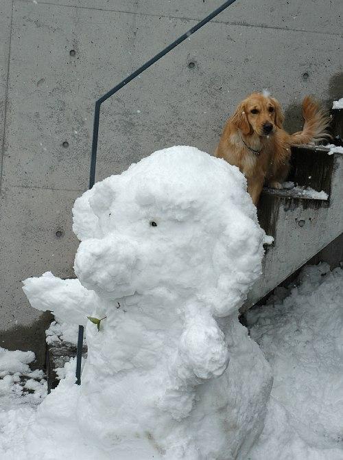 雪だるまとララ