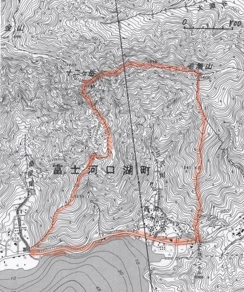 地形図 河口湖西部 001