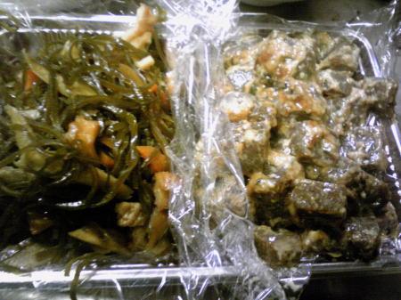 昆布の煮物とこんにゃくオイマヨ