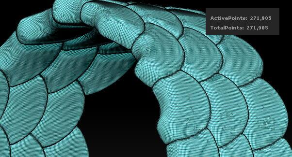 zbrush snake qremesher 蛇