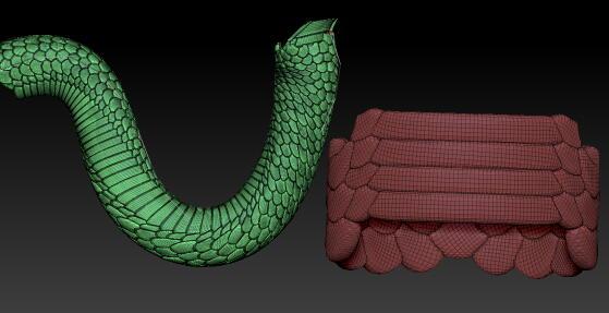 zbrush snake insertmesh 蛇2