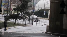 雪の中の散歩