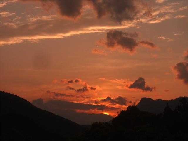 ひさしぶりの夕日
