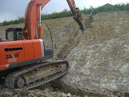 縦排水掘削