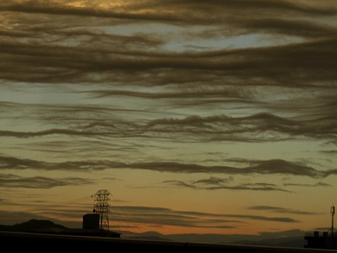 夕雲の流れ