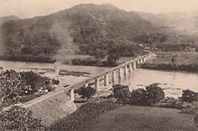 施工中の北川橋梁