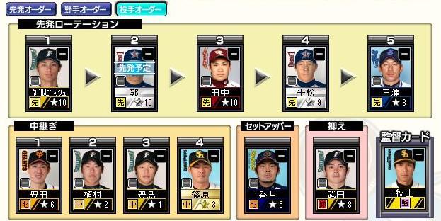 29サイクル3ペナ3日目ブル投手