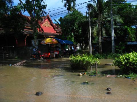 水浸しの市内