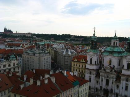 市庁舎から望むプラハの街