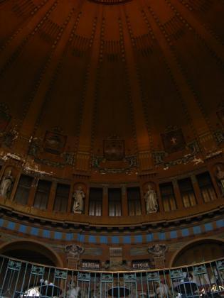 プラハ本駅の天井ドーム