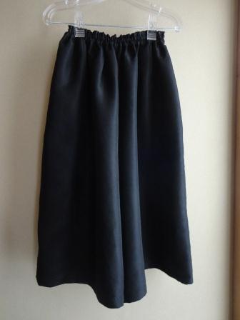 黒地平織ギャザーパンツ