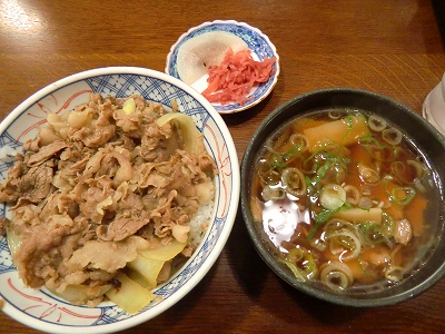 飛騨牛丼&ミニ高山ラーメン 1000円 11/05/01