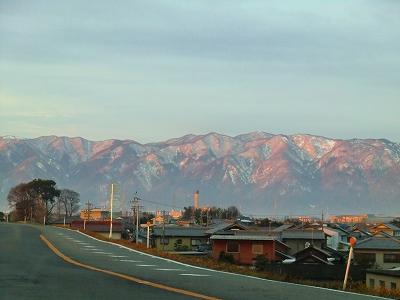 養老山脈日の出