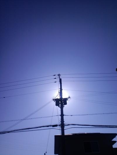 電柱の光2