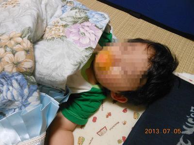 1歳の初寝顔☆