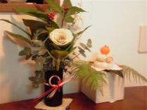 お花と鏡餅