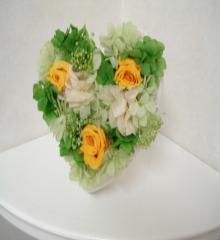 ハートのお花(グリーン系)2