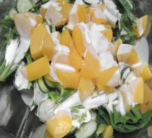 黄桃サラダ