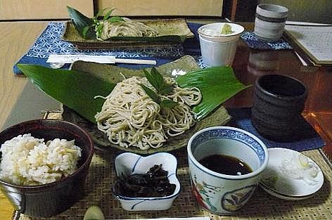 生姜ご飯とお蕎麦♪