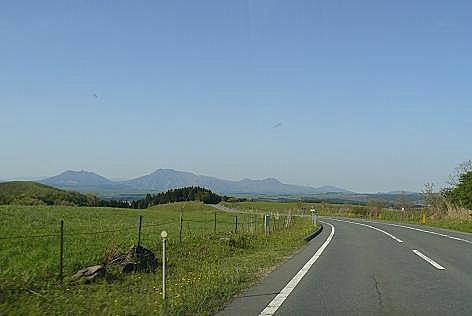 阿蘇五岳が見えた~♪