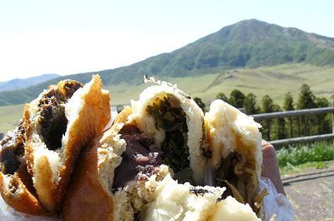 パンを食べて烏帽子岳へGO♪