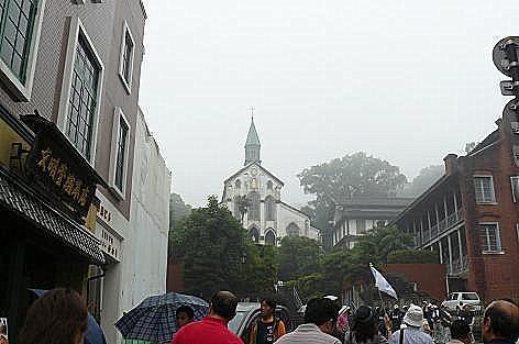 雨の大浦天主堂♪