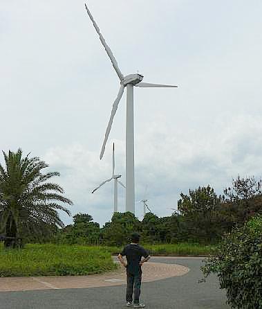 風車とたそがれる♪