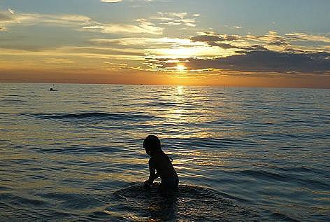 初めての海♪
