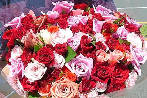 バラの花束500円♪