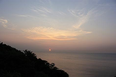 海辺の夕陽♪