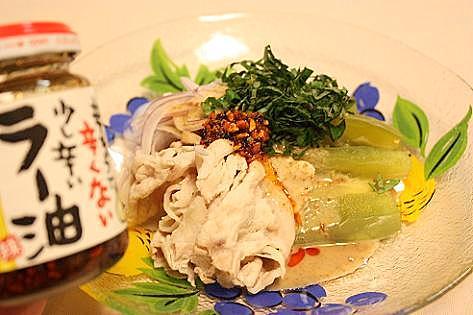 豚シャブと野菜のサラダ♪