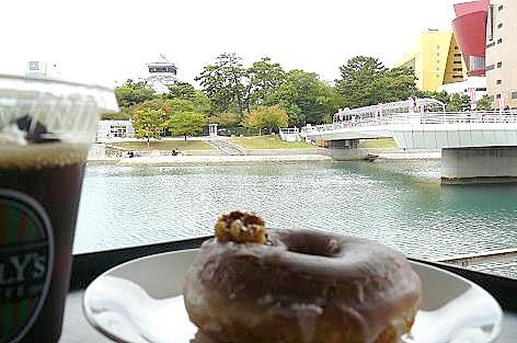 小倉城を眺めながら♪