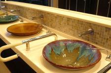 手洗いが陶器でした♪